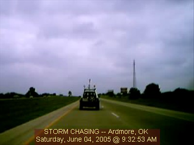 Ardmore OK...Chase Vehicle 2 Webcam