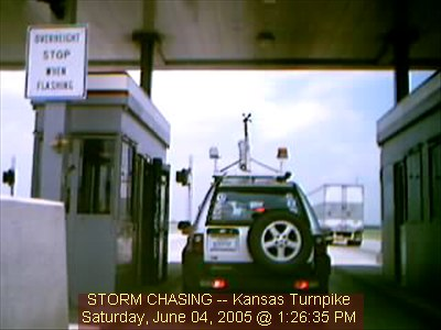 Kansas Turnpike. Image from Vehicle 2 live Chase Cam