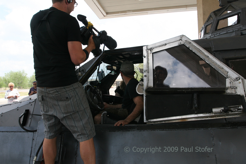 "The Discovery Channel crew from ""Storm Chasers"" shooting Sean Casey in TIV2"