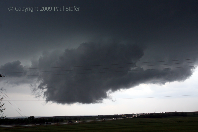 Large Wall Cloud forming