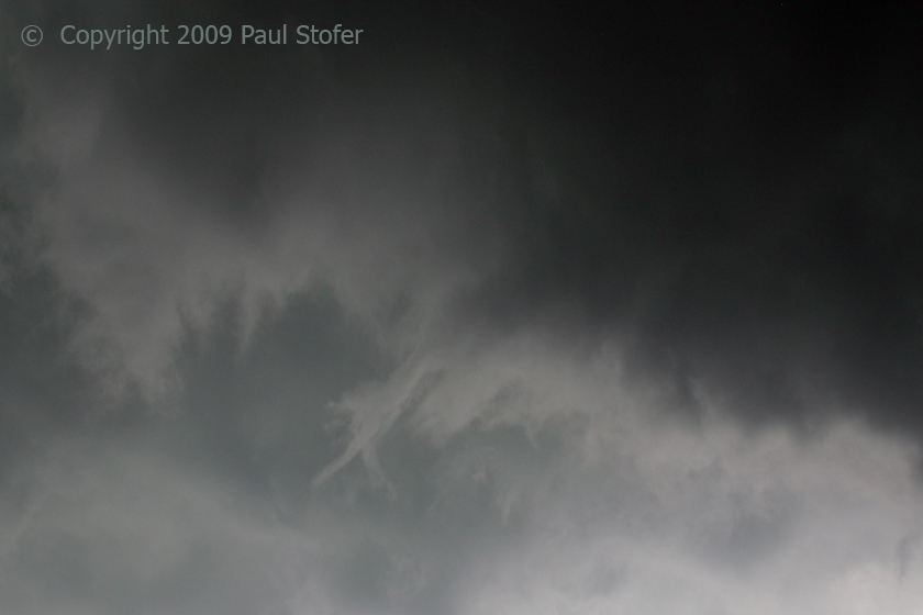 Funnel dropping from wall cloud