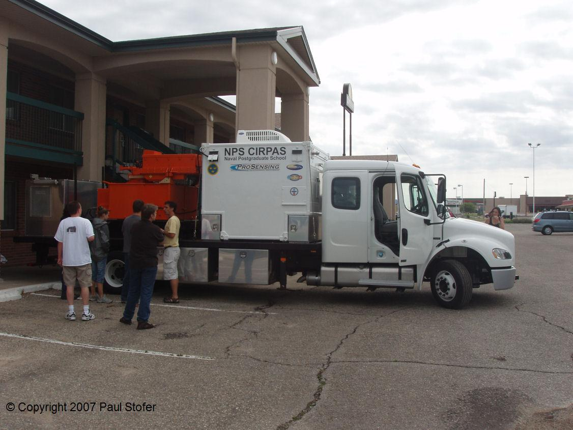 Phased Array Mobile radar in Hays, Kansas