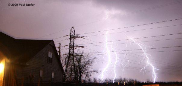 Lightning in Broken Arrow, OK