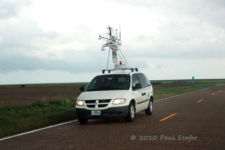 VORTEX2 Mobile Mesonet Studying a storm near Tribune, Kansas