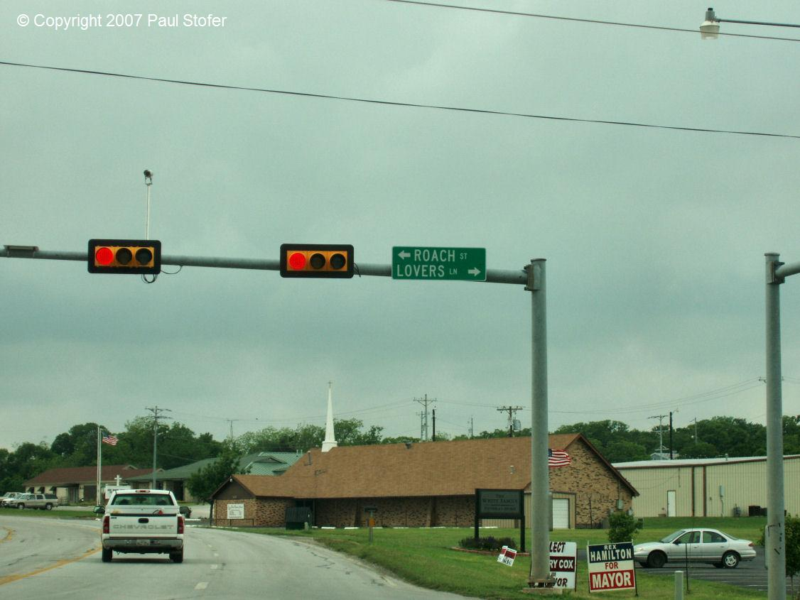 Interesting street sign in Decatur, Tx