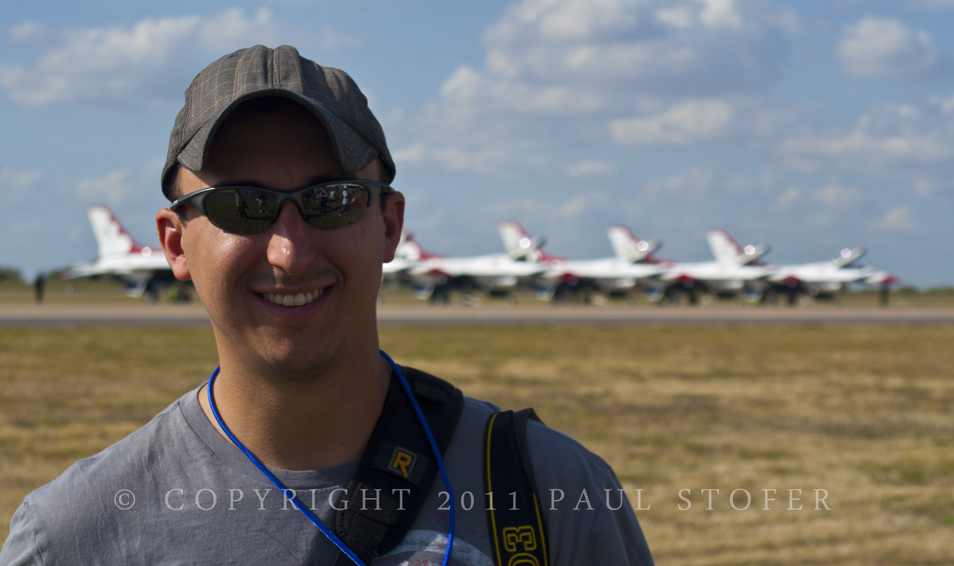 Mike Mezeul II with the Thunderbirds