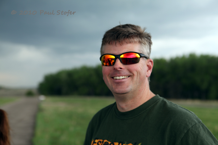 Dave Fick watching the storms
