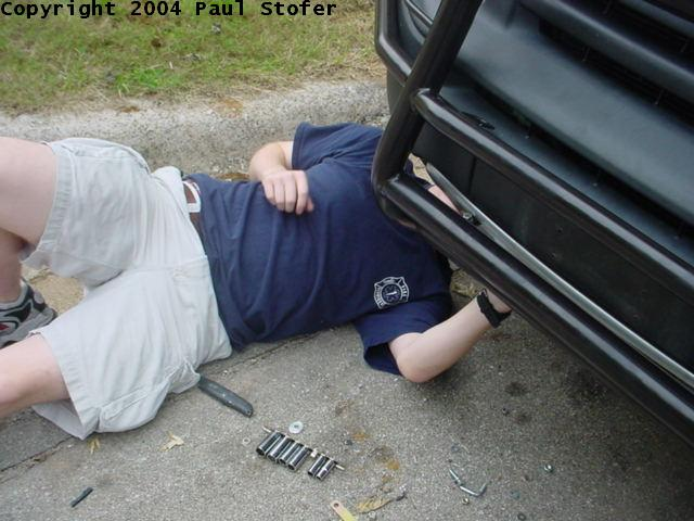 Me working under the car