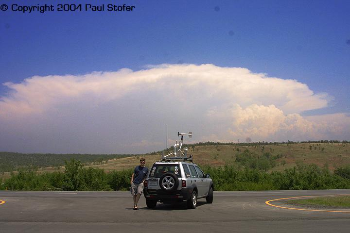 Me and My car infront of a Tornadic Supercell