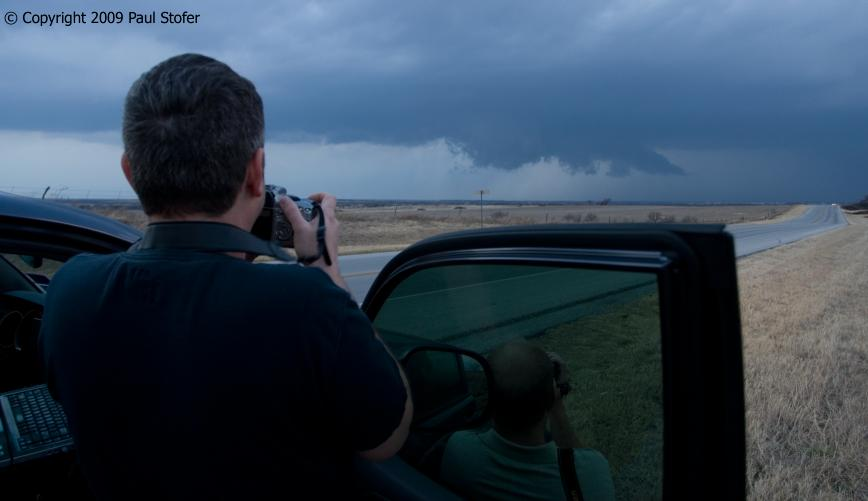 Storm Chasers Amos Magliocco and Kevin Peterson.