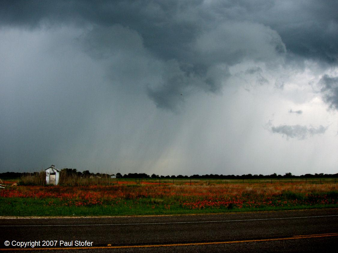 Rain and Hail core in Parker County, TX