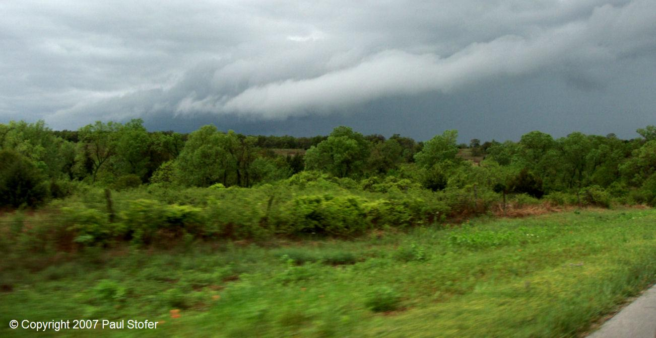 Impressive Roll Cloud near Weatherford, Texas