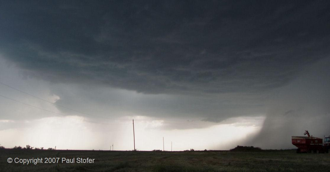 Saint Peter, Kansas thunderstorm base and core looking to the West