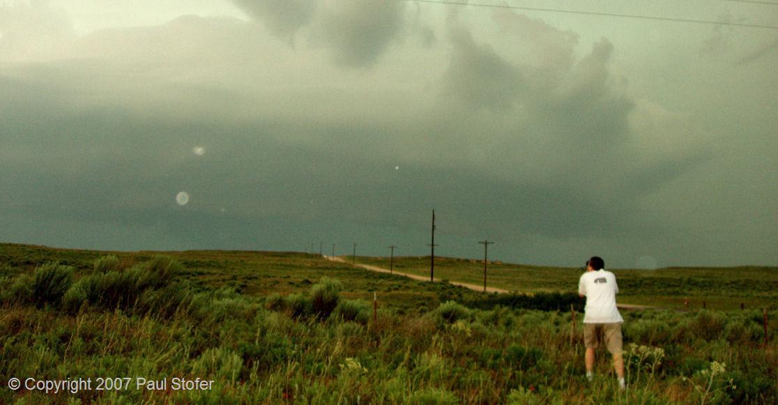 Eric Nguyen taking storm photos