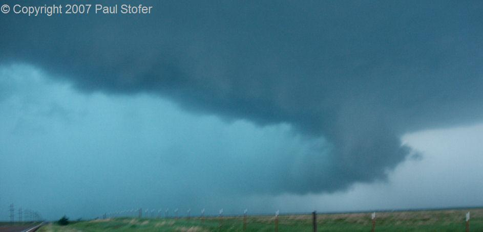 Canadian, Texas tornadic thunderstorm core