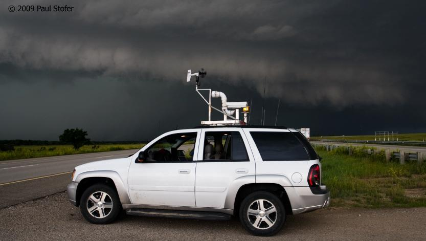 My vehicle with an approaching Squall Line