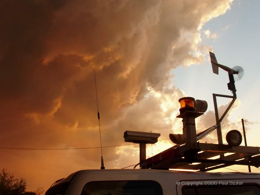 Cumulus behind the weather station on my vehicle
