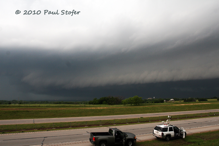 Approaching Shelf Cloud - Guthrie Oklahoma