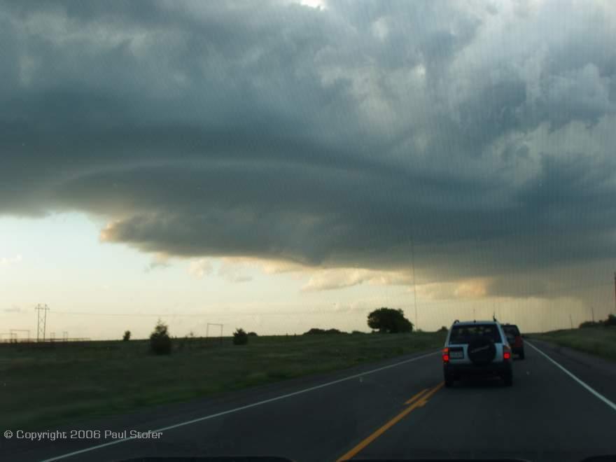 Rotating storm base in Oklahoma