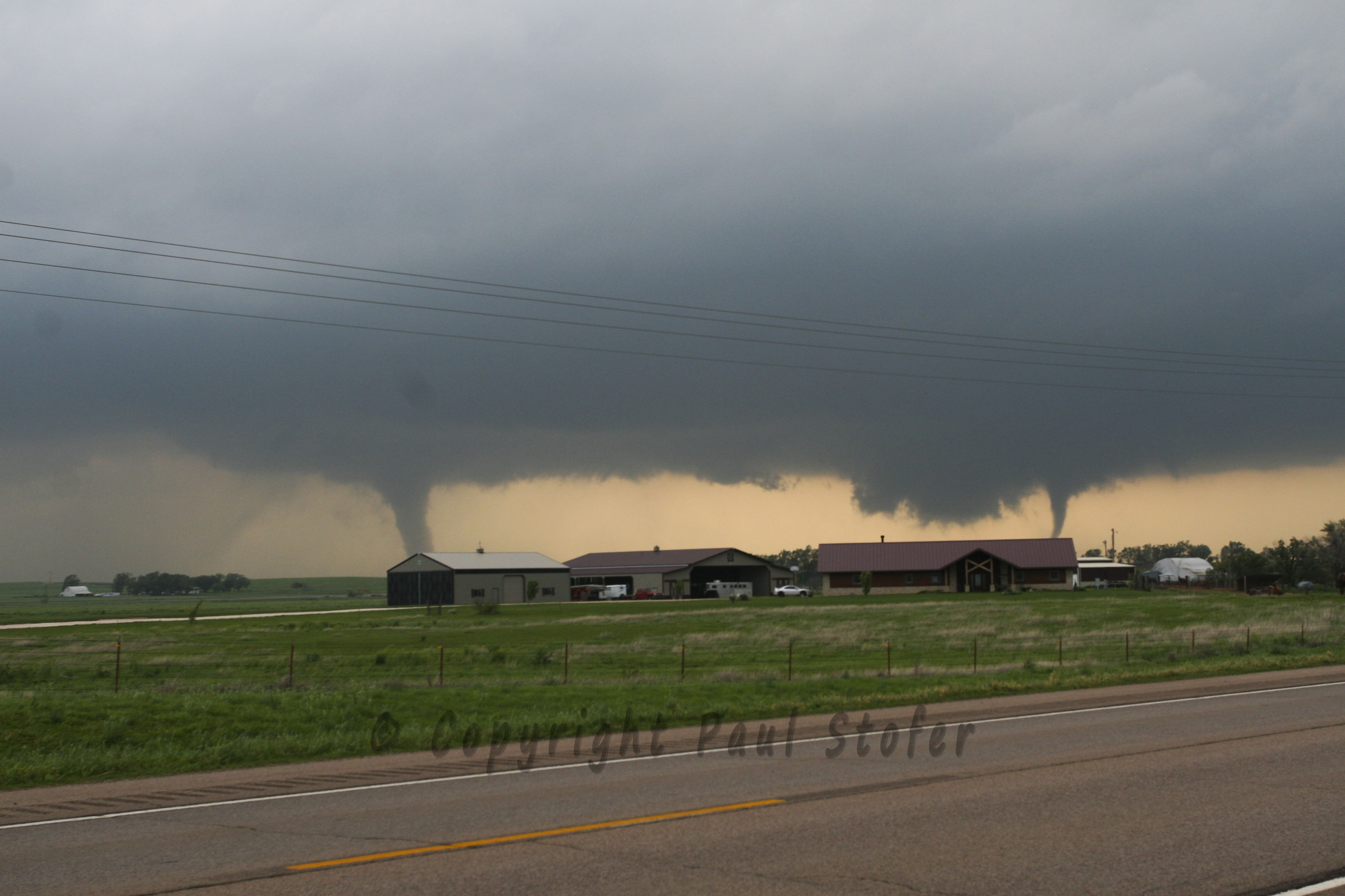 Cherokee, Oklahoma Tornado with Satellite